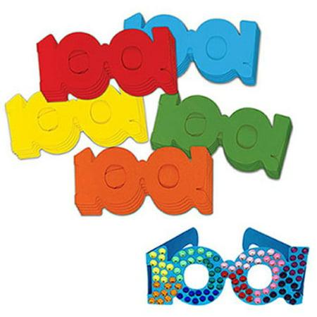 100 Days Paper Glasses - 100 Glasses