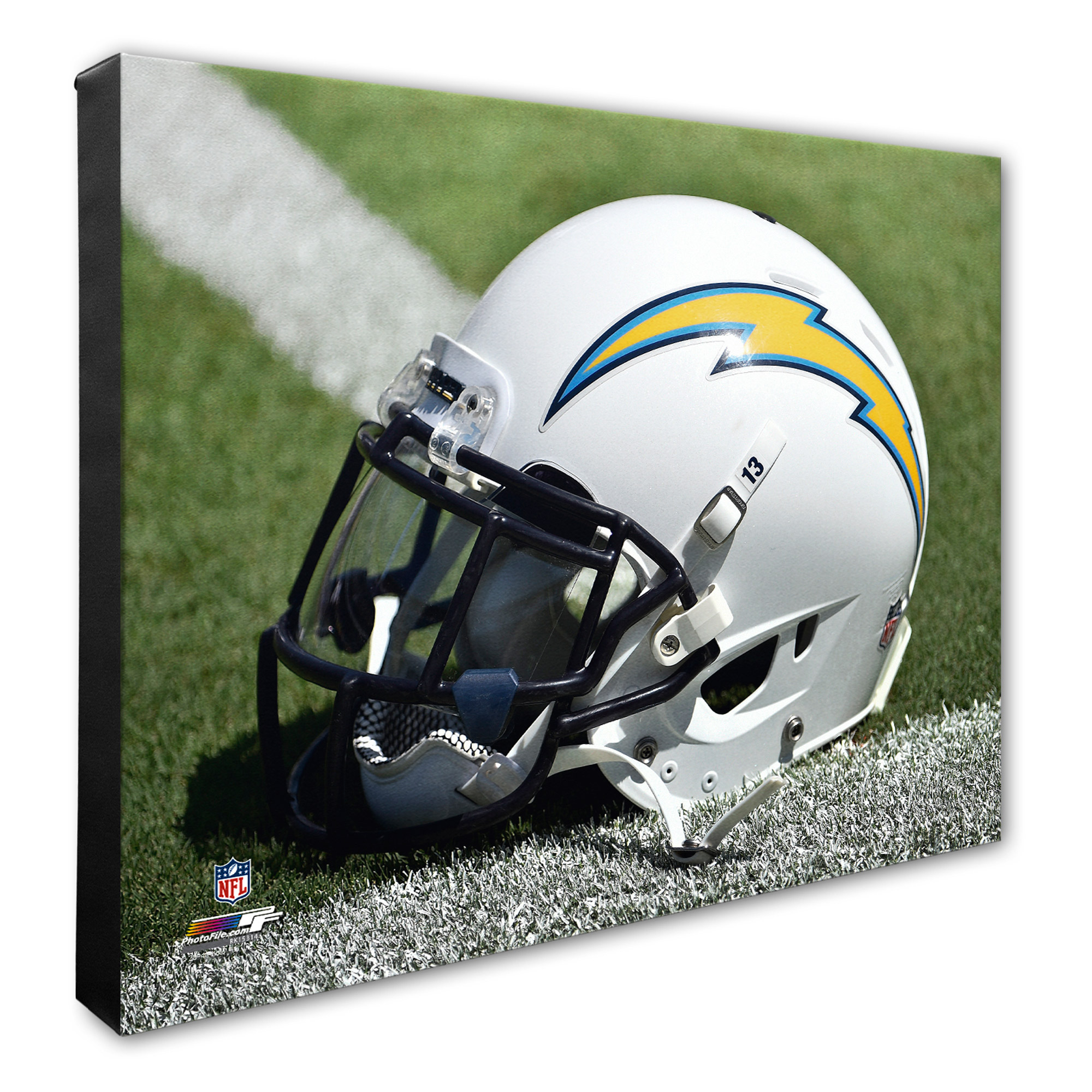 "Los Angeles Chargers 16"" x 20"" Helmet Photo - No Size"
