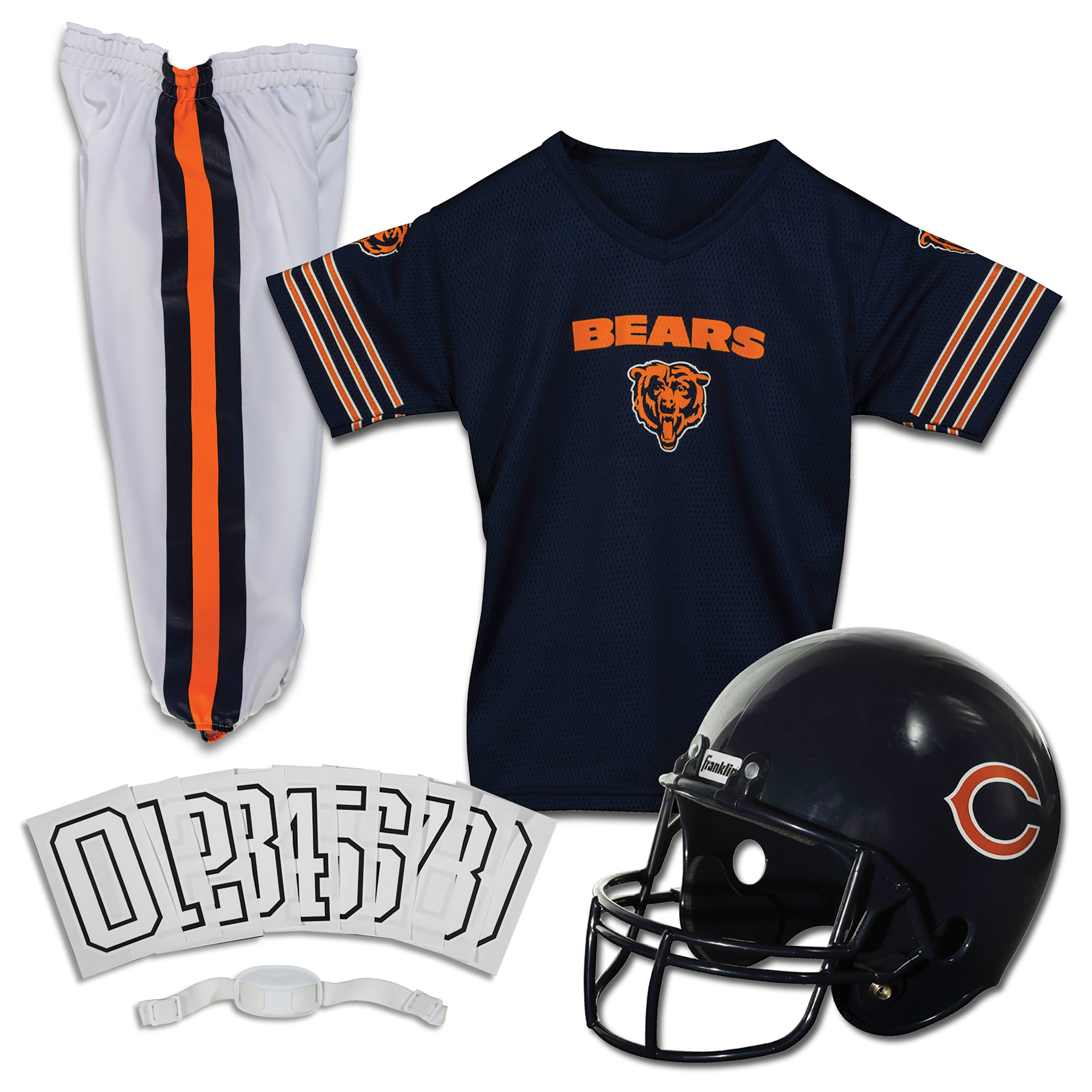 Details about Chicago Bears Uniform Set Youth NFL Football Jersey Helmet Kids Costume Small
