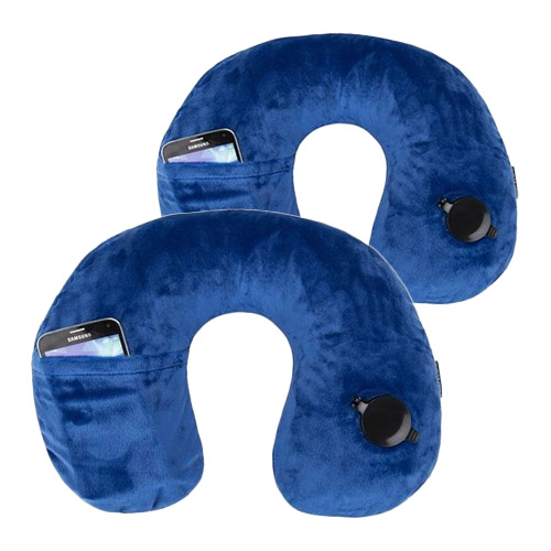 Travelon Deluxe Inflatable PillowCobalt 2-Pack Deluxe Inflatable Pillow
