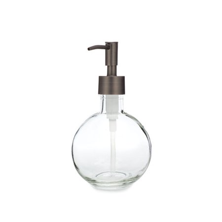 Rail19 Moon Round Glass Soap & Lotion Dispenser