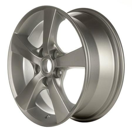 Alloy Wheel Silver Face (2004-2007 Mazda 3  16x6.5 Aluminum Alloy Wheel, Rim Bright Silver Full Face Painted - 64862 )
