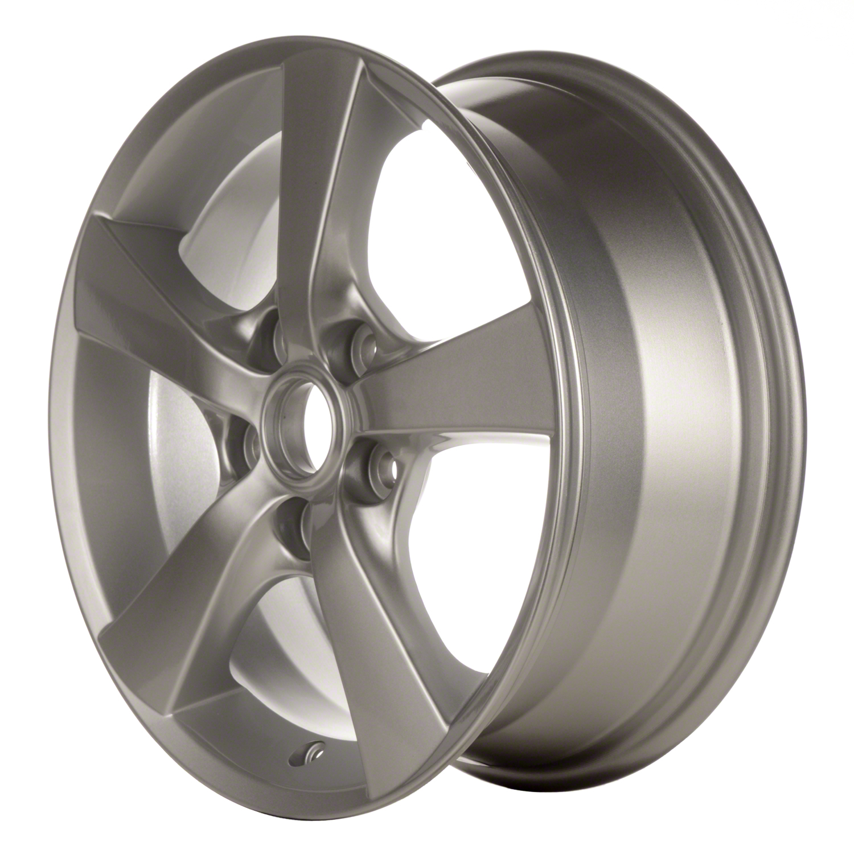 2004-2007 Mazda 3  16x6.5 Aluminum Alloy Wheel, Rim Bright Silver Full Face Painted - 64862