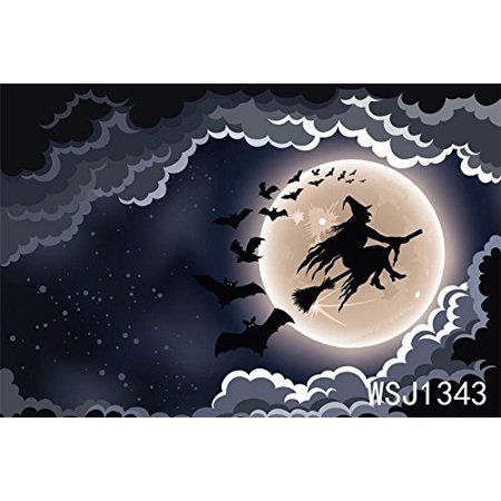 Halloween Photo Background Ideas (GreenDecor Polyster 7x5ft Witch Appeard Halloween Photo Backdrop Studio Photography Backdrop Background Studio)