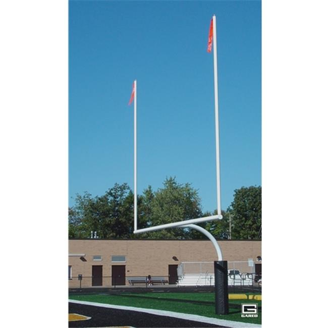 Gared Sports FGP602SW 5.56 in. Outer Diameter Redzone College Football Goalposts, Permanent & Sleeve Mount, White