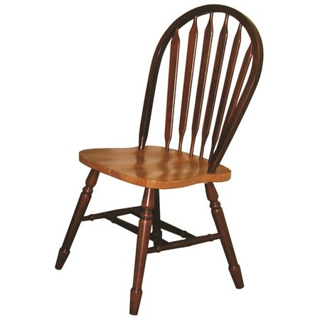 Dining Chair in Nutmeg and Light Oak Finish - Set of 2