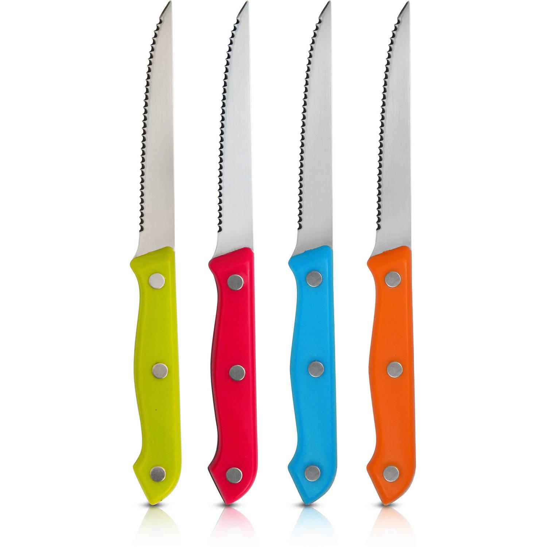 Ragalta 4-Piece Multi-Colored Handles Steak Knife Set