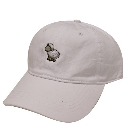 City Hunter C104 Sheep Cotton Baseball Dad Hat 17 Colors (White)](Sheep Hat)
