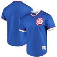 Chicago Cubs Mitchell & Ness Mesh V-Neck Jersey - Royal