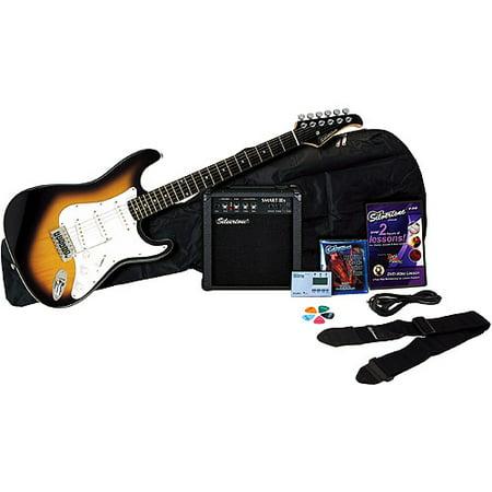- Silvertone Revolver Electric Guitar Package with Instructional DVD, Vintage Sunburst