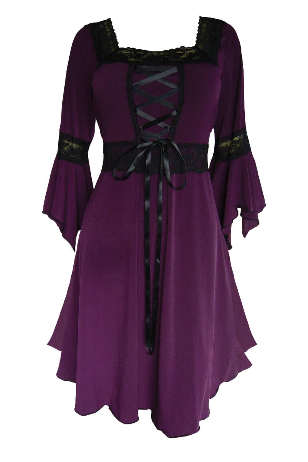 Dare To Wear Victorian Gothic Boho Women's Plus Size Renaissance Corset Dress S - 5x