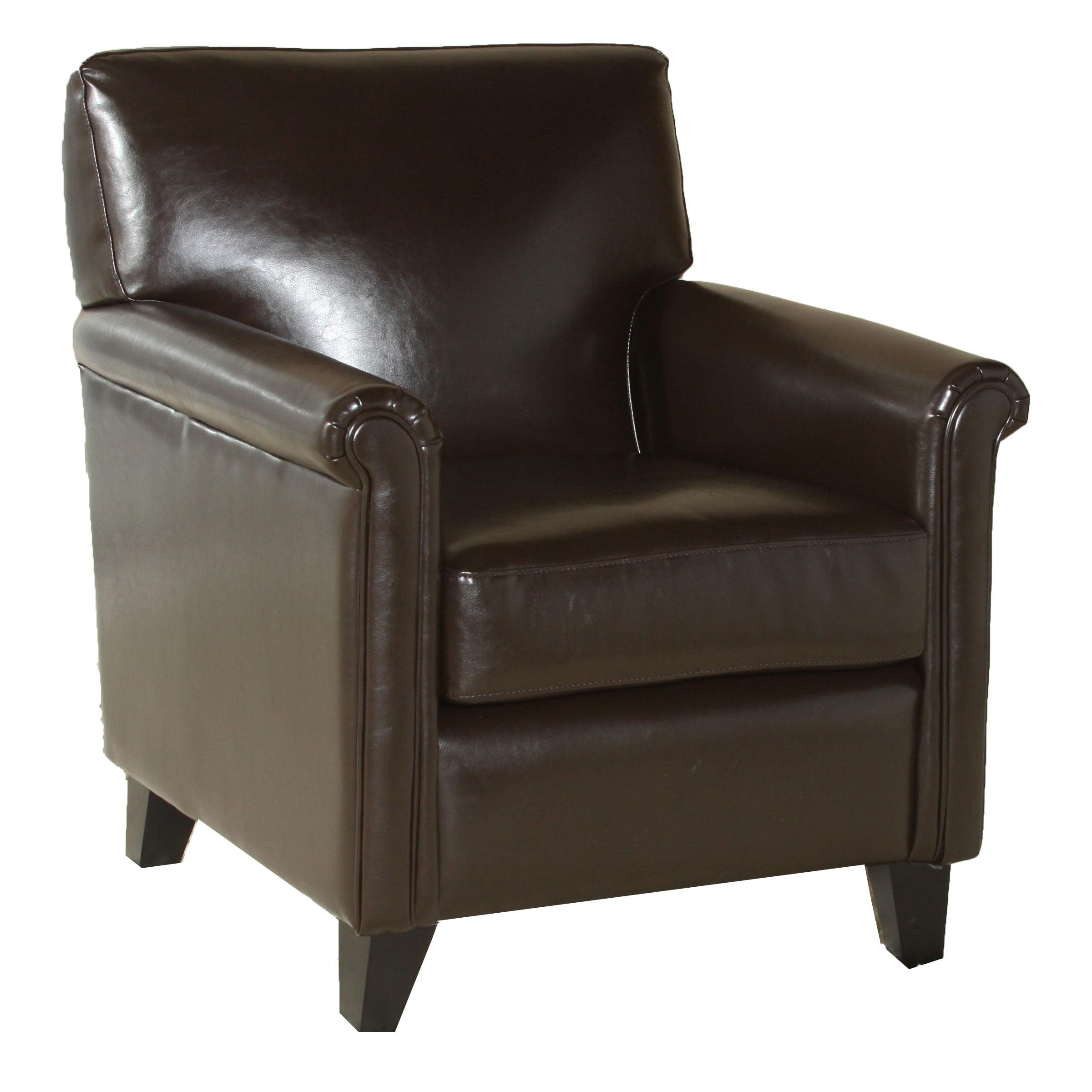 Loretto Espresso Bonded Leather Club Chair