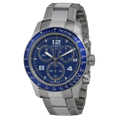 T-Sport V8 Blue Dial Stainless Steel Mens Watch (Mens Sport Blue Dial)