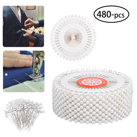 EEEKit Round Head Sewing Needles 480Pcs, Straight Pins with Pearlized Ball Head for Sewing Quilting