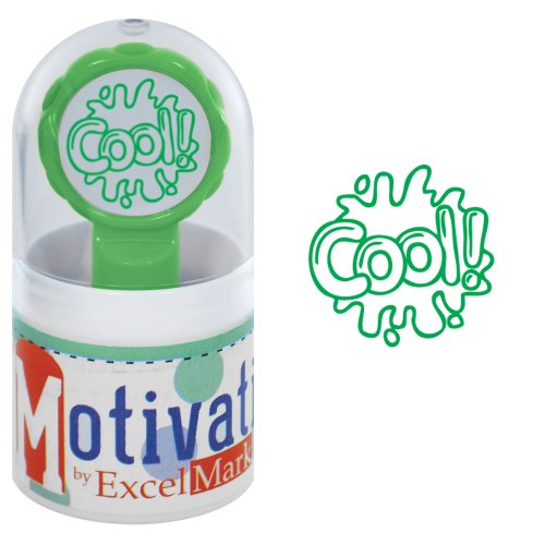 Motivations Pre-inked Teacher Stamp - Cool! (Water Splash) - Green