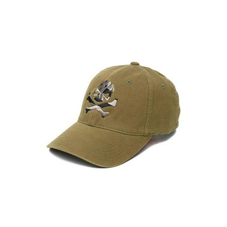 - Phu Skull Flag Flex Hat Olive S/m