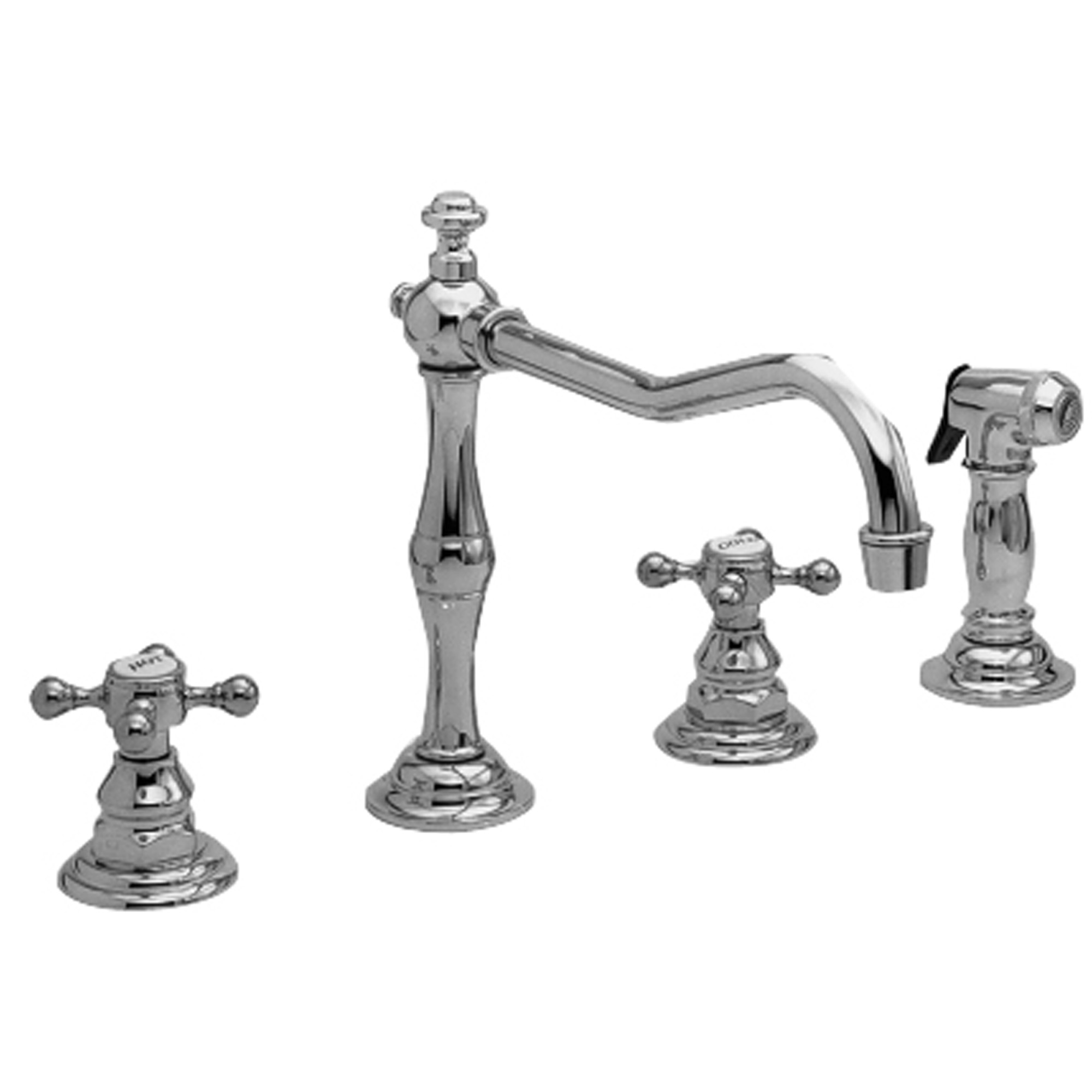 Newport Brass 943 Chesterfield Double Handle Widespread Kitchen Faucet Walmart Com Walmart Com