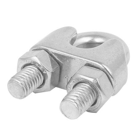 M10 304 Stainless Steel Saddle Clamp Cable Wire Rope Clip Fastener - image 1 de 2