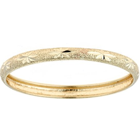 10kt Solid Yellow Gold Thumb Ring In A Diamond-Cut Design