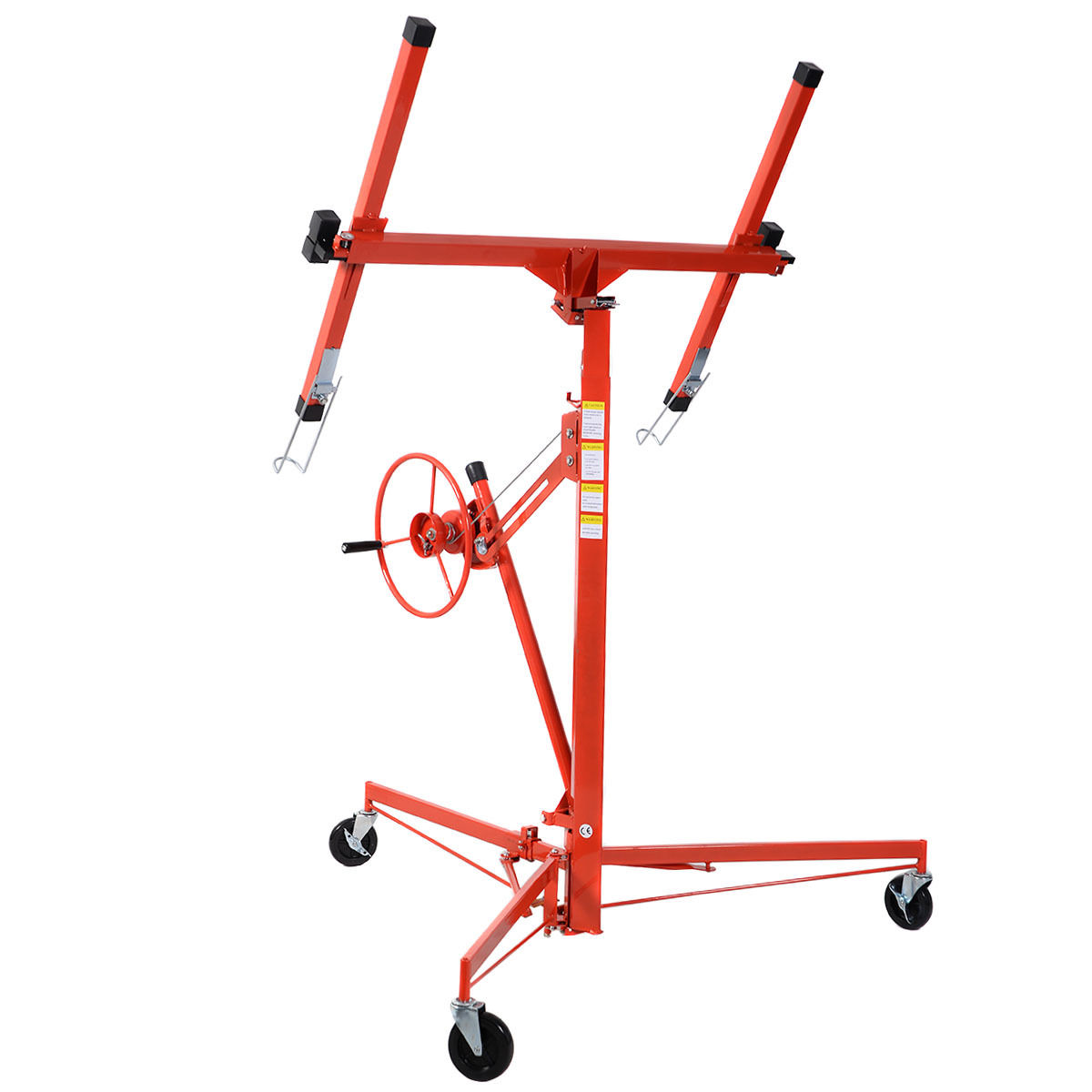 Costway 11' Drywall Lift Panel Hoist Dry Wall Jack Rolling Caster Lifter Lockable by Costway