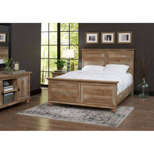 Better Homes and Gardens Crossmill Queen Bed Weathered Finish