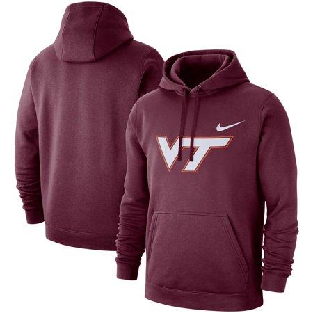Virginia Tech Hokies Nike Logo Club Fleece Pullover Hoodie - Maroon (Nike Girls Clothing)
