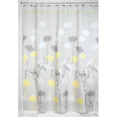 Interdesign daizy fabric shower curtain for Inter designs