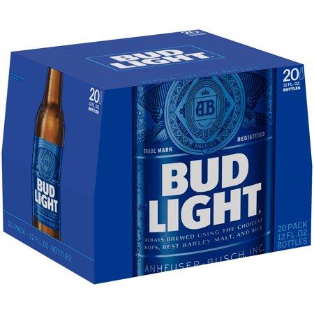 Bud Light Beer 20 Pack 12 Fl Oz Bottles