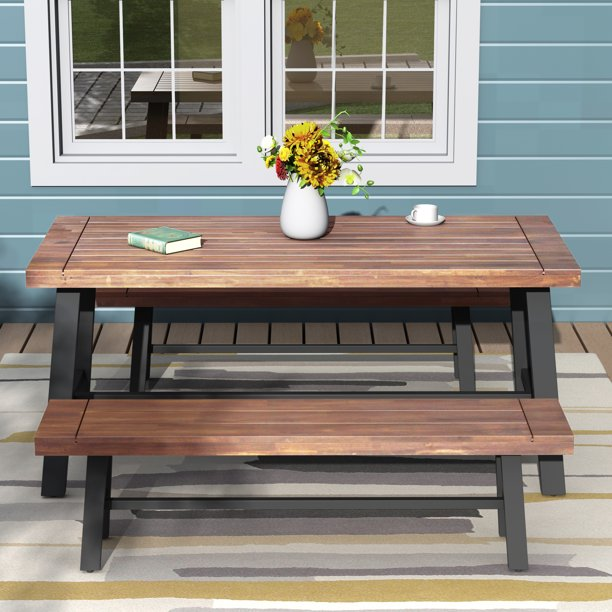 Patio Furniture Sets Clearance, URHOMEPRO Wood Outdoor ...