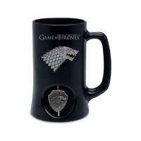 Game of Thrones House Stark Ceramic Stein w/ Rotating Metal Emblem
