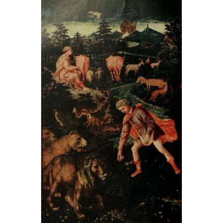 Burlington Part of Cassone Stretched Canvas - Francesco Pesellino (24 x - Halloween Store Burlington Ma