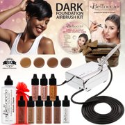 Belloccio Professional Dark Shade AIRBRUSH COSMETIC MAKEUP SYSTEM Holiday Kit