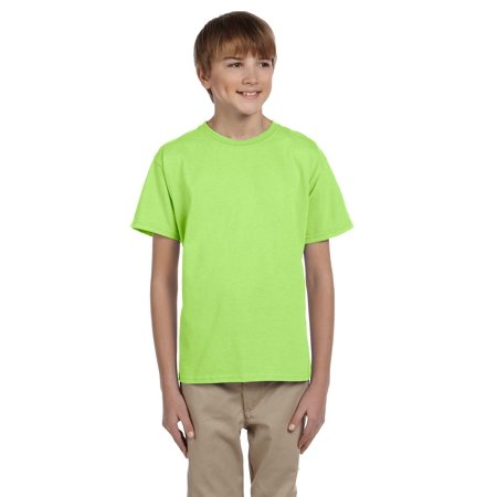Fruit Of The Loom Tee Shirt 3931B Youth 5.6 oz Heavy Cotton ()