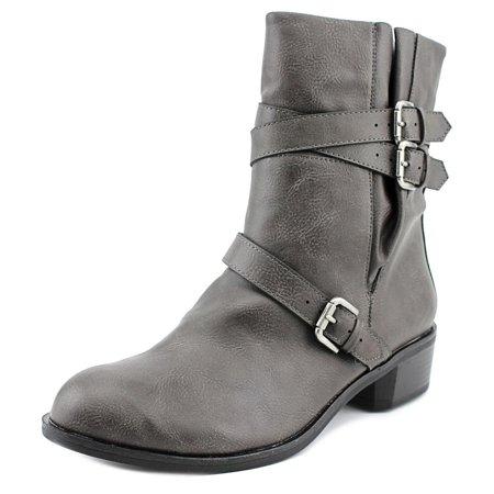 Womens BAXTEN Leather Round Toe Ankle Fashion Chestnut Size 5.5