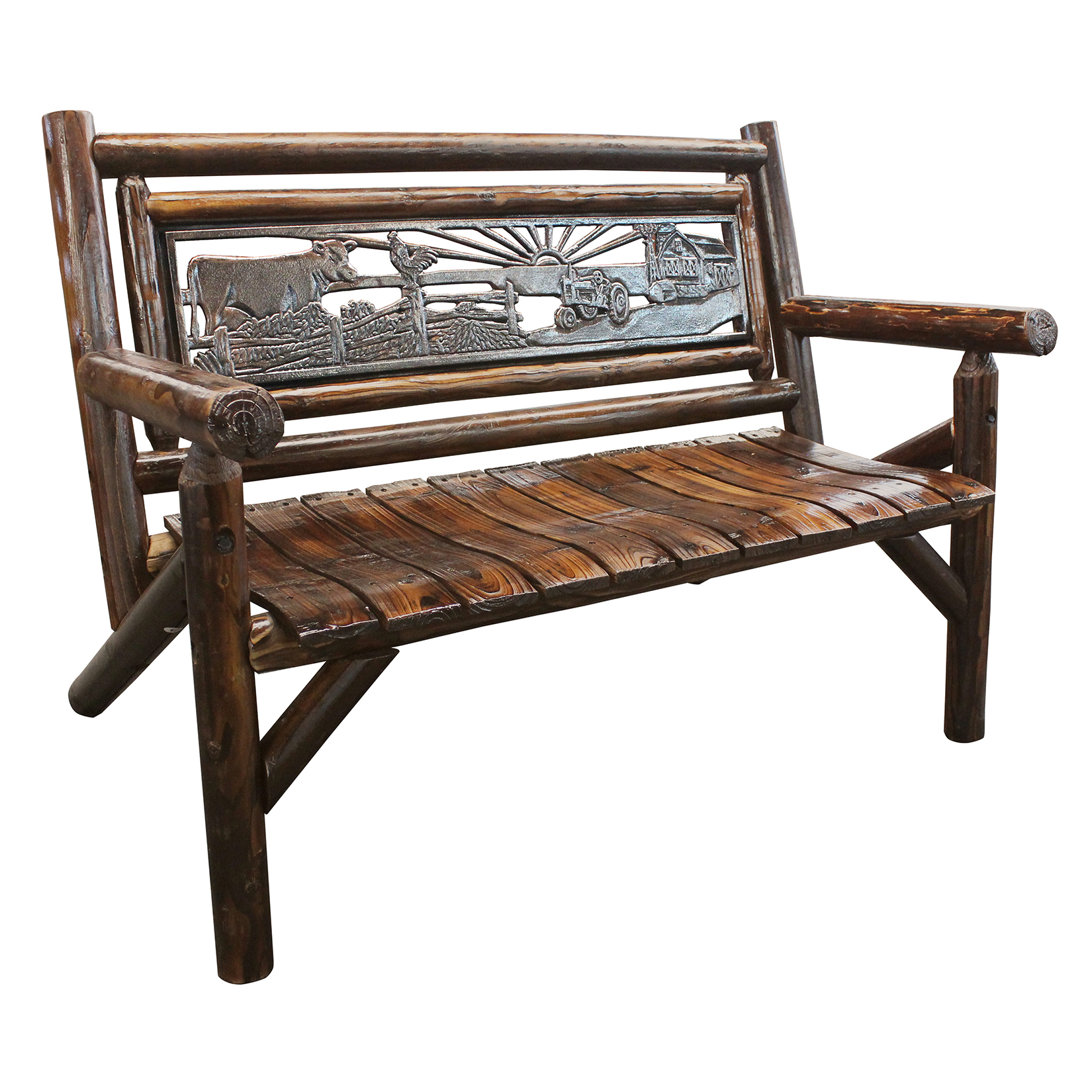 Leigh Country Char-log Bench With Farm Insert