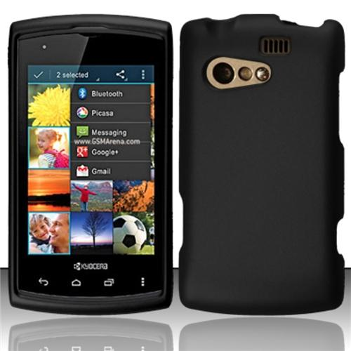 Insten For Kyocera Rise C5155 Rubberized Cover Case - Black