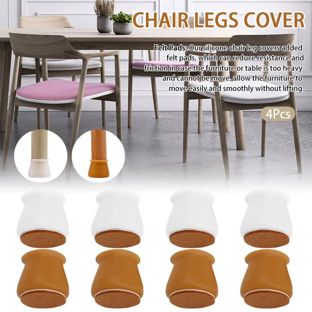 Gethome Chair Legs Cover Table Feet, Dining Room Chair Feet Covers Square