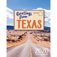Greetings from Texas 2020 Wall Calendar (Paperback)