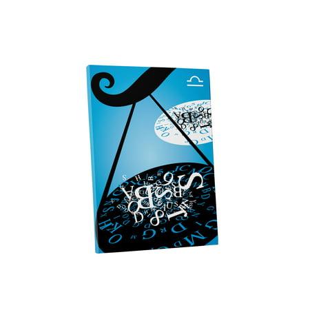 Pingo World 1221P7rbih4   Pop Zodiac Sign Libra   Gallery Wrapped Canvas Art  16   X 20    Variable