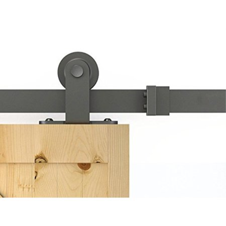 diyhd 8ft top mount sliding barn door track system rustic black barn track with