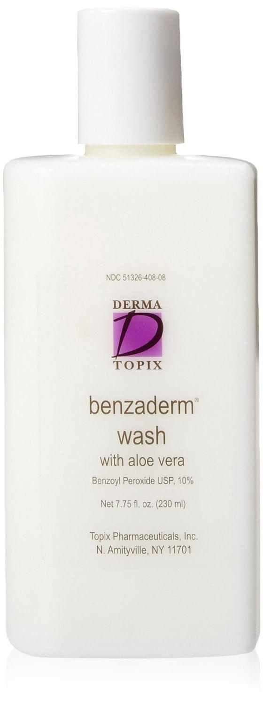 Derma Topix Benzoyl Peroxide 10 Benzaderm Wash with Aloe Vera 775