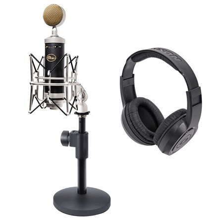 blue baby bottle sl studio condenser microphone mic weighted stand headphones. Black Bedroom Furniture Sets. Home Design Ideas