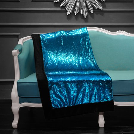 Reversible Sparkle (Sparkle Turquoise Reversible Mermaid Sequin Throw)