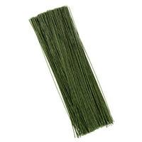 Flower Wire - 300-Piece Floral Wire, 24 Gauge Floral Stem Wire for Florist Flower Arrangement - Dark Green, 24 ga, 16 Inches in Length