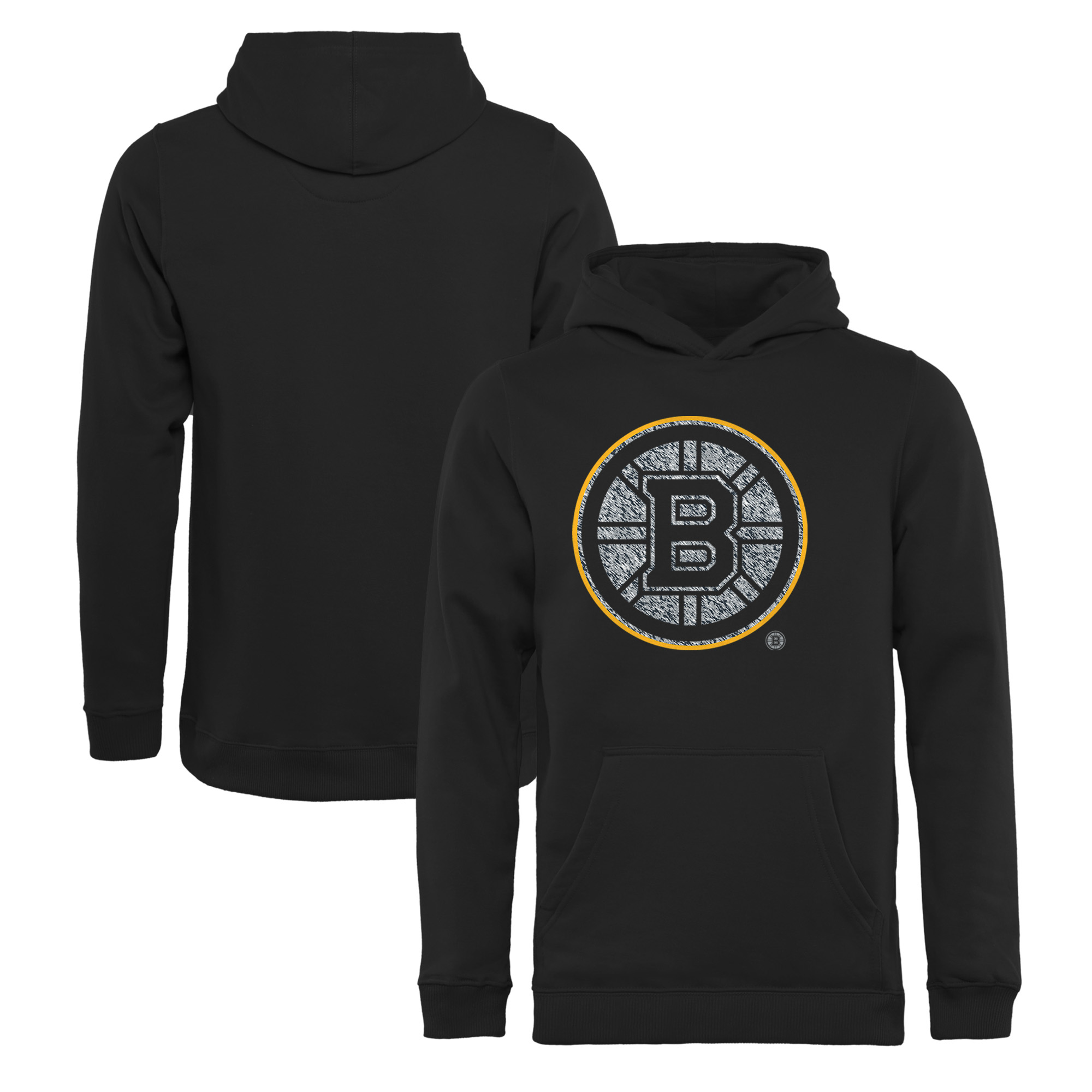 Boston Bruins Fanatics Branded Youth Static Logo Pullover Hoodie - Black