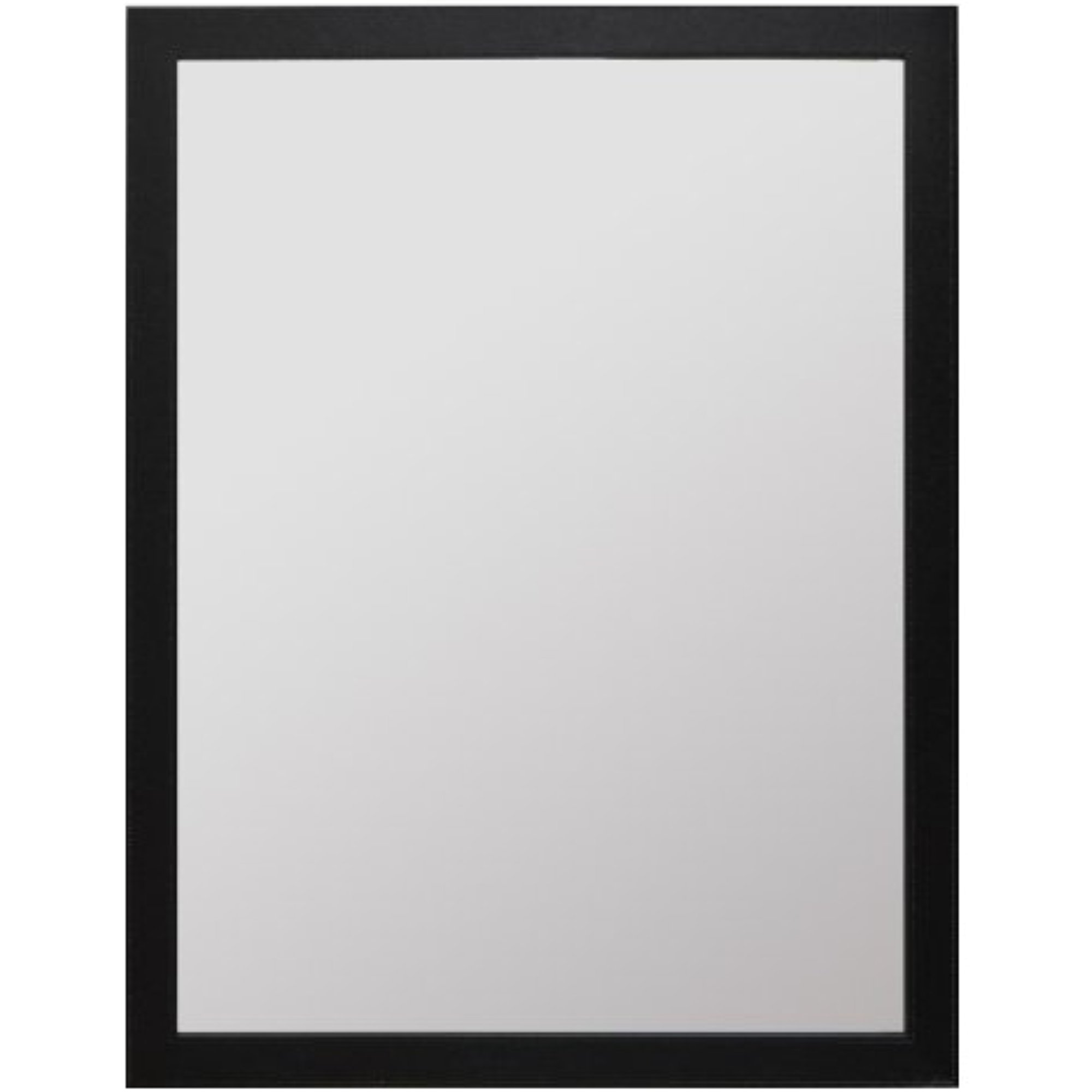 Mirror, Modern Design, Rectangle, Black Pu Finish, 44 X 34 By Raphael Rozen by