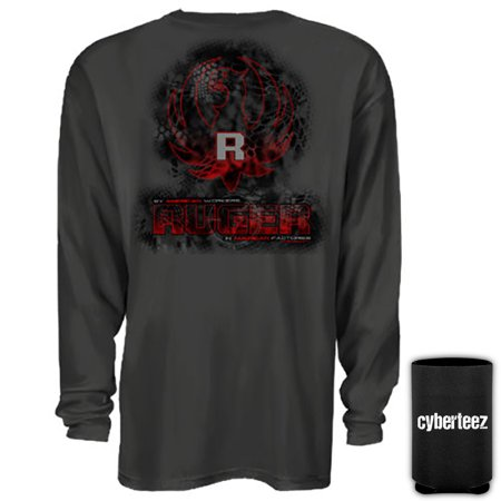 (Sturm Ruger & Co Kryptek Digital Eagle Logo Firearms LONGSLEEVE T-Shirt + Coolie (M))