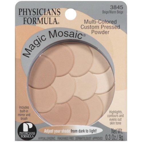 Physicians Formula Magic Mosaic Beige/Warm Beige W/Built-In Mirror & Brush Multi-Colored Custom Pressed Powder .3 Oz