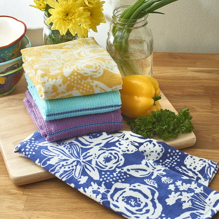 The Pioneer Woman Cotton Celia Kitchen Towels, 4 Piece 3 Piece Kitchen Tea Towel