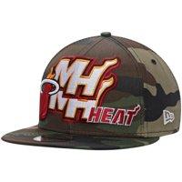 Miami Heat New Era Team Mix 9FIFTY Adjustable Snapback Hat - Camo - OSFA